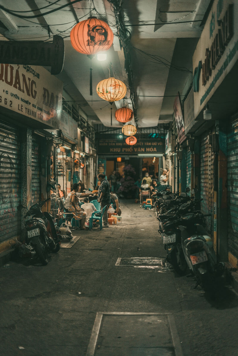 Dark Saigon alley