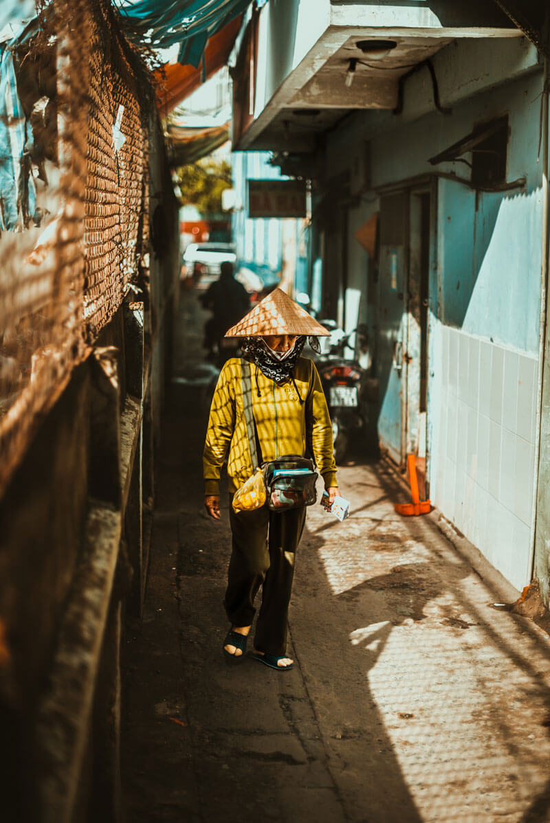 woman walking in Ho Chi Minh City Vietnam