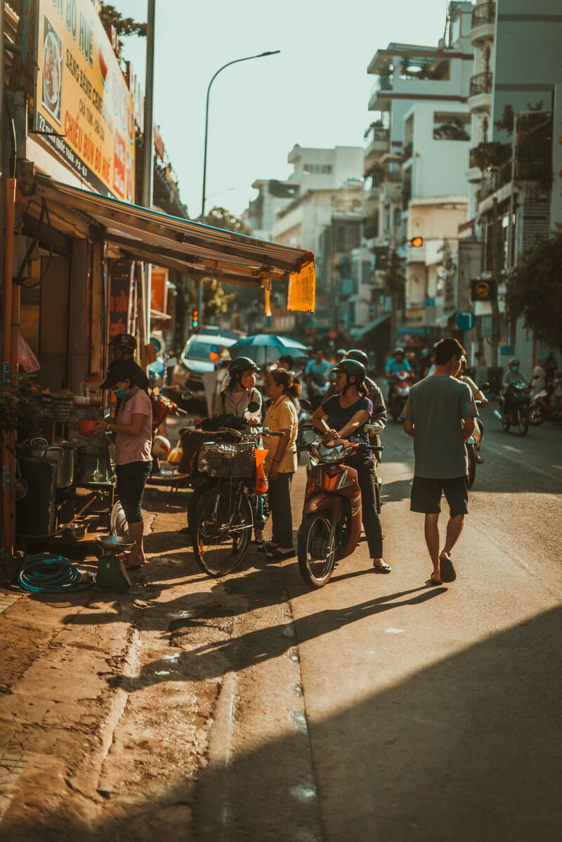 crowded street in Ho Chi Minh