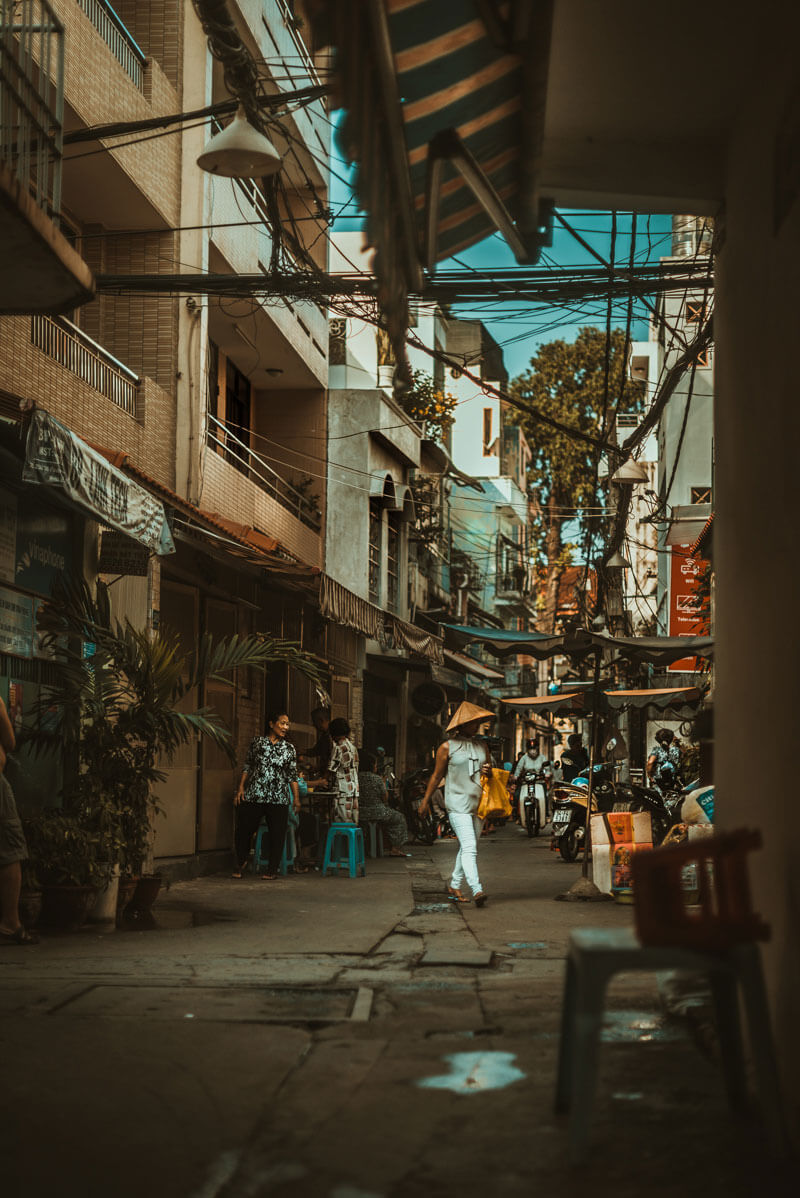 alley in southeast asia